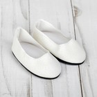 Туфли для куклы «Блёстки», длина стопы: 7 см, цвет белый - фото 76314610