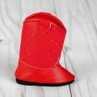 Сапоги для куклы «Орнамент», длина подошвы: 7 см, цвет красный - фото 105513329