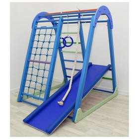 Детский спортивный комплекс Tiny Climber, 1050 × 1100 × 1300 мм, цвет голубой