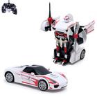 """Робот-трансформер радиоуправляемый """"Автобот"""", работает от аккумулятора, масштаб 1:14, цвет белый"""