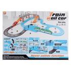 Железная дорога-автотрек «Большое путешествие», с машинкой и поездом, перекресток, светофор - фото 105643256