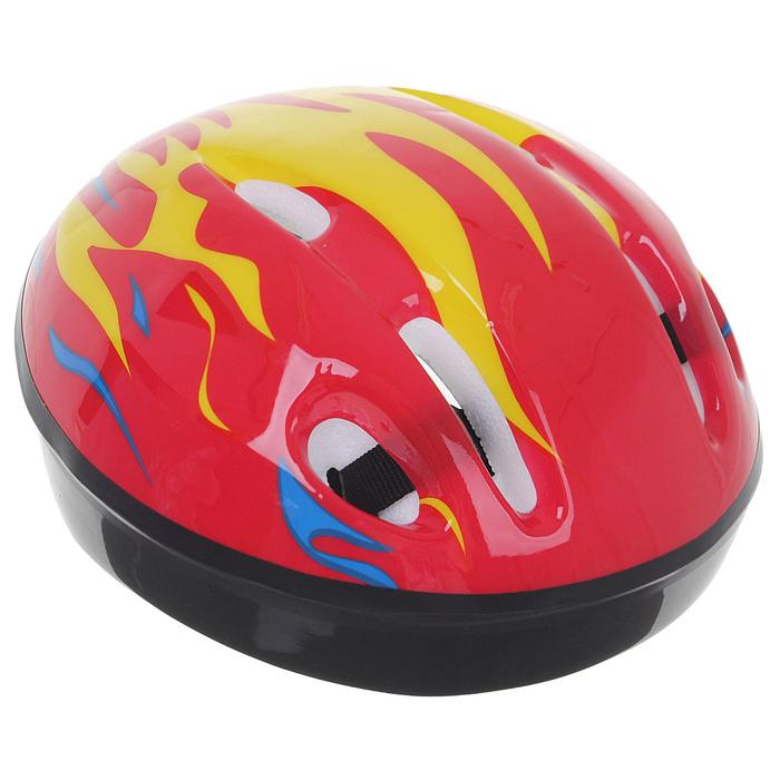 Шлем защитный детский OT-H6, размер S (52-54 см), цвет: красный