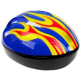 Шлем защитный детский OT-H6, размер S, 52-54 см, цвет синий