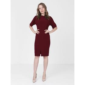 Платье, размер 46, цвет бордовый Ош