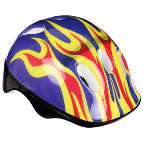 Шлем защитный детский OT-H6, размер M, 52-54 см, цвет синий