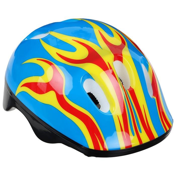 Шлем защитный детский OT-H6, размер M (55-58 см), цвет: синий