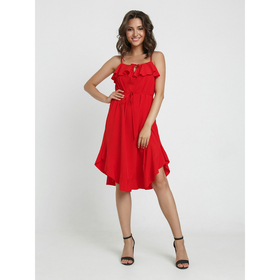 Сарафан, размер 46-48, цвет красный Ош