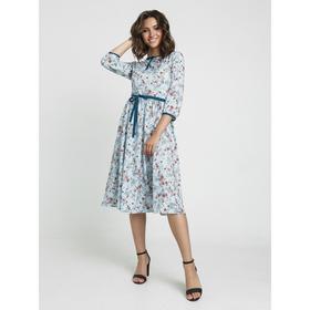 Платье, размер 50, цвет голубой, изумрудный Ош