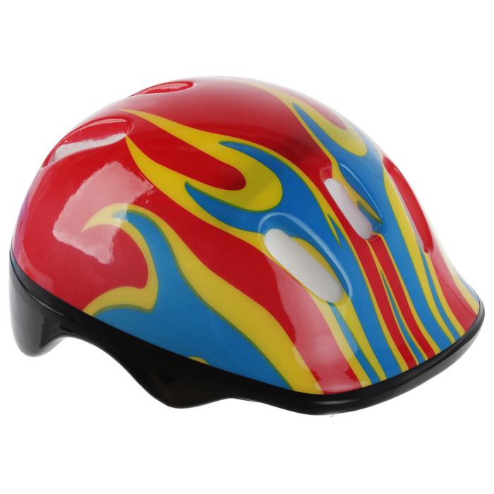 Шлем защитный детский OT-H6, размер M (55-58 см), цвет: красный