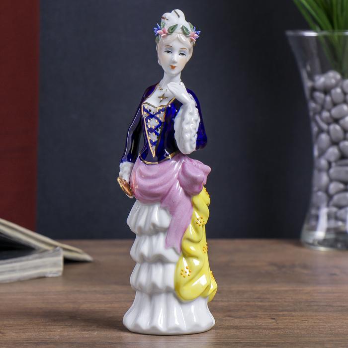 сувенир керамика под фарфор леди в платье каскадом 20*7*6 см
