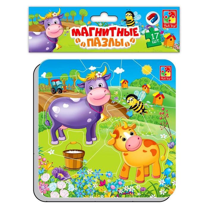 Магнитные пазлы «Корова и теленок»