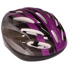 Шлем велосипедиста взрослый ОТ-11, размер L (56-58 см), цвет: сиренево-черный