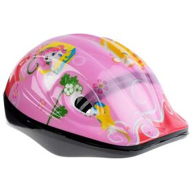 Шлем защитный детский OT-501, размер S, 52-54 см, цвет розовый