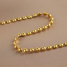 Бусы на нитях, плоские, 6 мм, 9 ± 1 м, цвет золотой