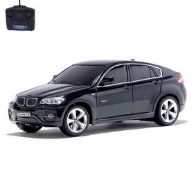 Машина радиоуправляемая BMW X6, масштаб 1:24, работает от батареек, свет, цвет чёрный