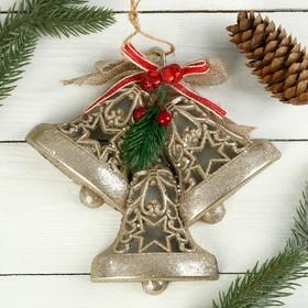 "Christmas decoration ""jingle Bells"" stars of 18.5*18 cm beige gold"