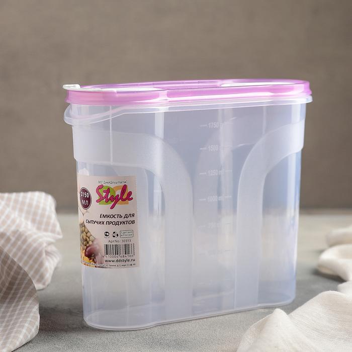 Ёмкость для сыпучих продуктов 2,15 л, цвет МИКС