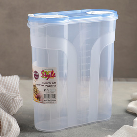 Ёмкость для сыпучих продуктов 4 л, цвет МИКС