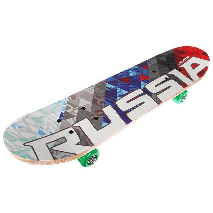 Скейтборд Russia, колеса PVC d= 50 мм, цвета МИКС