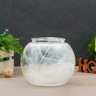 "Vase ""Zara"" alabaster transparent 15,5*15,5*13,3 cm"