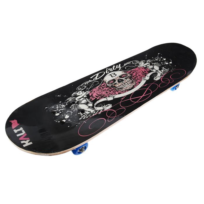 """Скейтборд """"Череп"""", колеса PVC d= 50 мм, цвета микс"""