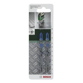 Пилки для лобзика Bosch 2609256729, 2 шт., по металлу, 68/91 мм, шаг 1.1-1.5 мм, прямой рез   456245 Ош
