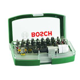Набор бит Bosch 2607017063, 32 предмета, односторонние, внешний шестигранник, держатель бит   456246 Ош