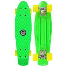 Скейтборд M-550, размер 56x14 см, колеса PVC d= 55х40 мм, цвета МИКС Ош
