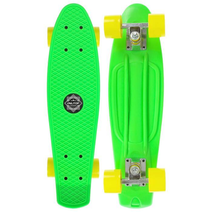 Скейтборд M-550, размер 56x14 см, колеса PVC d= 55х40 мм, цвета МИКС