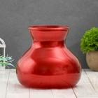 """Vase """"Dana"""" metallic red d-10cm 15*15*16 cm"""