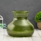 "Vase ""Dana"" metallic olive d-10cm 15*15*16 cm"