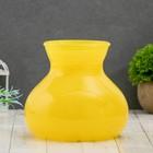"""Vase """"Given"""" yellow d-10cm 15*15*16 cm"""