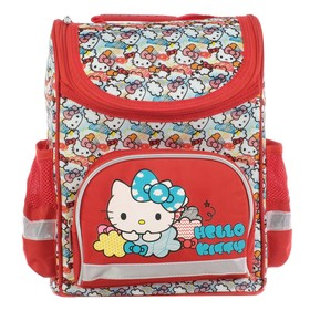 Ранец Стандарт Hello Kitty 32*25*13 дев, красный
