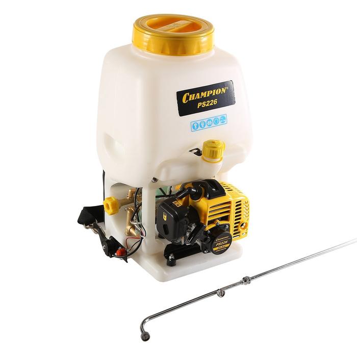 Опрыскиватель ранцевый CHAMPION PS226, бензиновый, 1.02 л.с., 0.75 кВт, 25.4 см3, бак 15 л