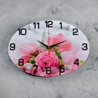 "Wall clock, series: Flowers ""Tenderness"", 24х34 cm"