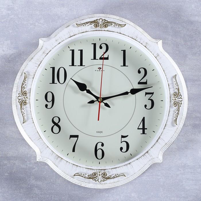 """Часы настенные, серия: Классика, """"Баконг"""", белое золото, 40х40 см - фото 7931222"""