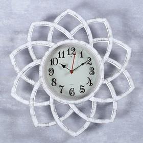"Часы настенные, серия: Интерьер, ""Кабао"", белые, 49.5 см"