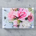 "Wall clock, series: Flowers ""Delicate roses"", 20x30 cm"