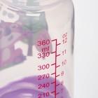 Бутылочка для кормления, 360 мл., широкое горло, цвет фиолетовый - фото 105537574