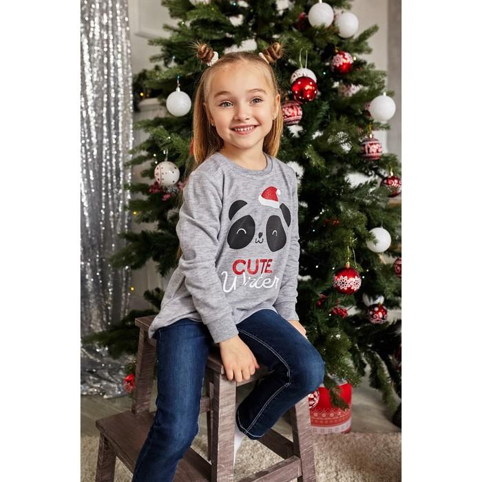 """Джемпер детский KAFTAN """"Cute"""" р.32 (110-116), серый - фото 76345563"""