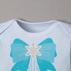 """Боди Крошка Я """"Маленькая снегурочка"""", голубой, р.24, рост 68-74 - фото 105479176"""
