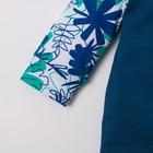 """Комбинезон Крошка Я """"Костюм"""", синий/белый/зелёный, р.24, рост 68-74 см - фото 105475479"""