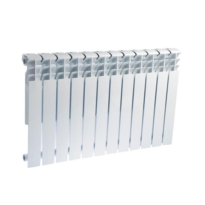Радиатор алюминиевый Oasis, 500 х 96 мм, 12 секций