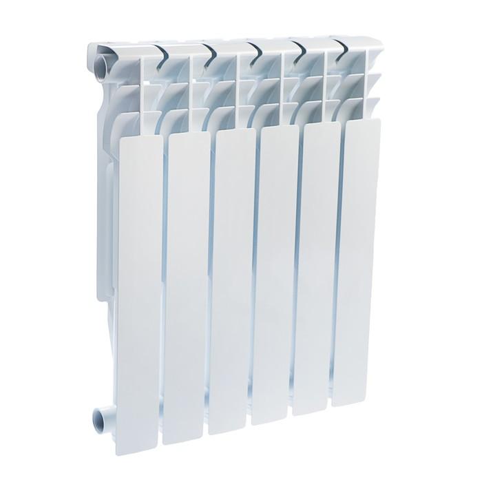 Радиатор алюминиевый Oasis, 500 х 96 мм, 6 секций