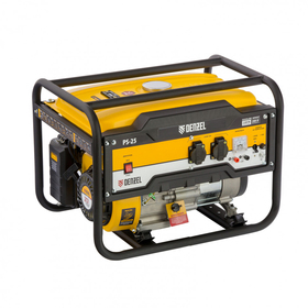 Генератор бензиновый Denzel PS 25 946814, 4Т, 7 л.с., 2500 Вт, 230/12 В, 15 л, ручной старт   456470