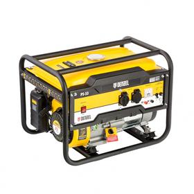 Генератор бензиновый Denzel PS 33 946834, 4Т, 7 л.с., 3300 Вт, 230/12 В, 15 л, ручной старт   456470