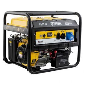 Генератор бензиновый Denzel PS 55 EA 946874, 4Т, 5500 Вт, 230 В, 25 л, коннектор автоматики   456470