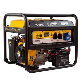 Генератор бензиновый Denzel PS 80 EA 946924, 4Т, 8000 Вт, 230 В, 25 л, коннектор автоматики   456470