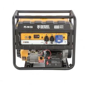 Генератор бензиновый Denzel PS 90 EA 946934, 4Т, 9000 Вт, 230 В, 25 л, коннектор автоматики   456470
