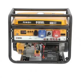 Генератор бензиновый Denzel PS 90 ED-3 946944, 4Т, 9000 Вт, переключение режима 230 В/400 В   456471